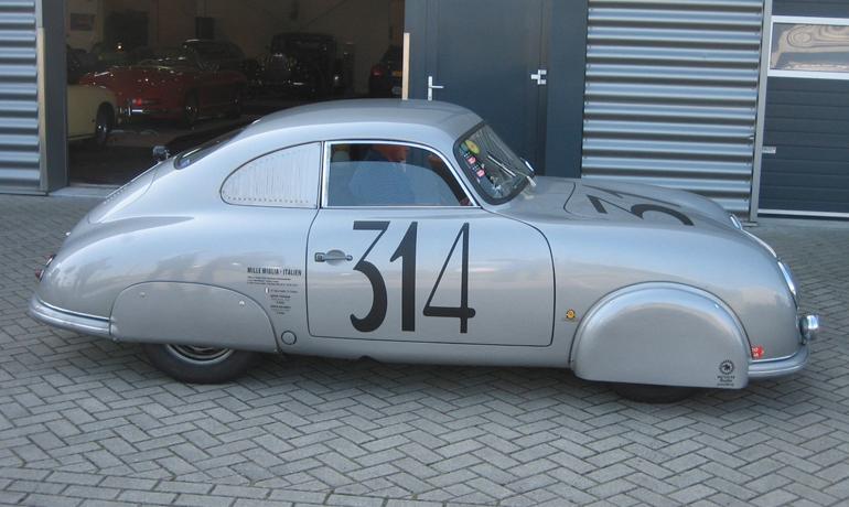 Porsche 356, Mille Miglia 1952.