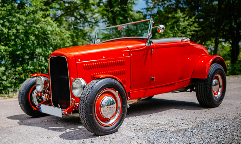 Ford A-Roadster HiBoy, 1930.