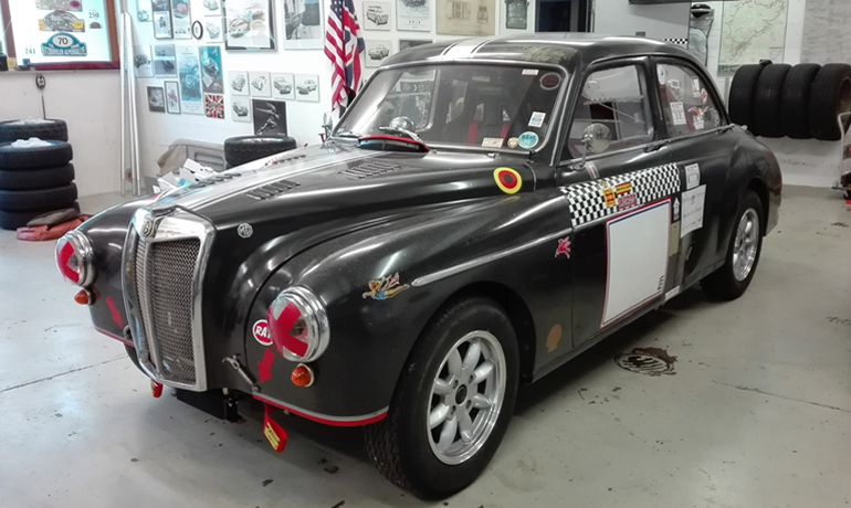 MG Magnette ZB racing, 1958.